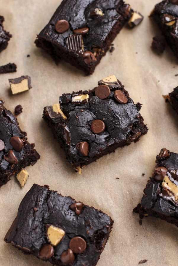 chocolate peanu butter chunk black beans brownies