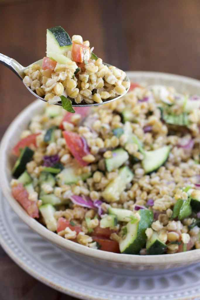einkorn wheat berry salad_1