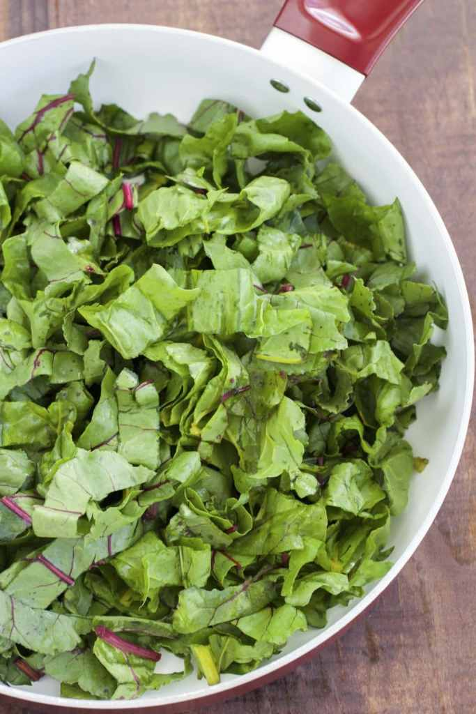 Roasted red & golden beet greens