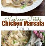 Tender chunks of chicken swimming in a rich and creamy mushroom and marsala wine broth. Chicken marsala soup is the comforting dish that you'll be craving all winter long! Dairy-free.
