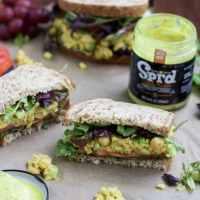 Creole Chickpea Salad Sandwiches