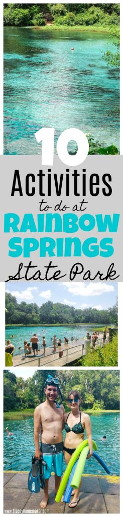 Visiting Rainbow Springs State Park is our favorite inexpensive family activity to do every summer! We love swimming in the crystal clear springs + doing these 10 fun activities!