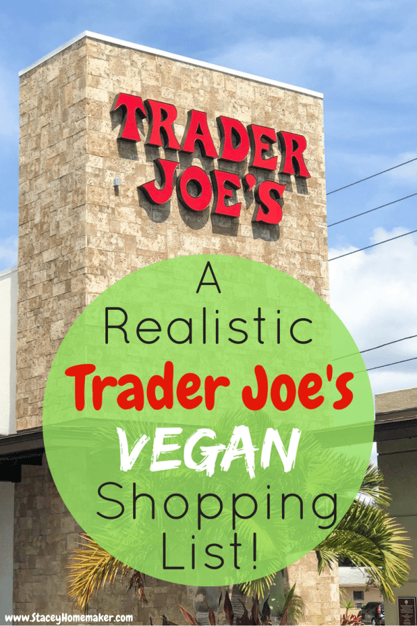 This is a realistic Trader Joe's vegan shopping list of (healthy & organic) products that I actually buy and use on a daily basis, it's not just a list of everything that's vegan at Trader Joe's. Every item has been taste-tested and husband-approved!