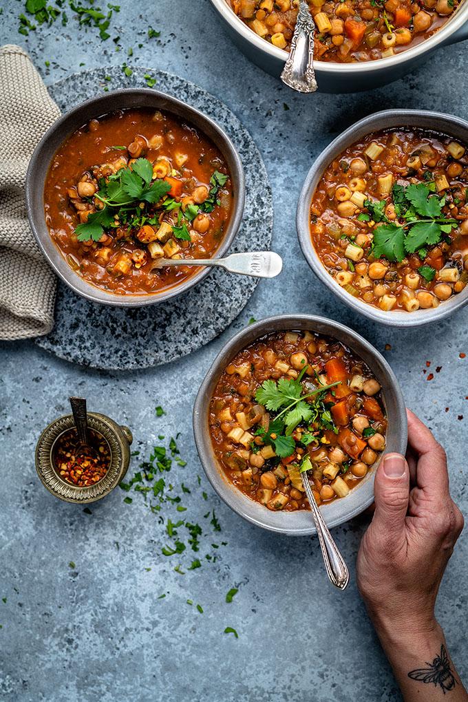 Instant Pot Vegan Harira Soup