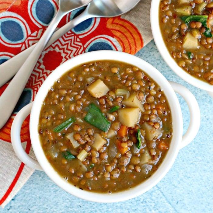 Instant Pot Lentil Soup (Vegan)
