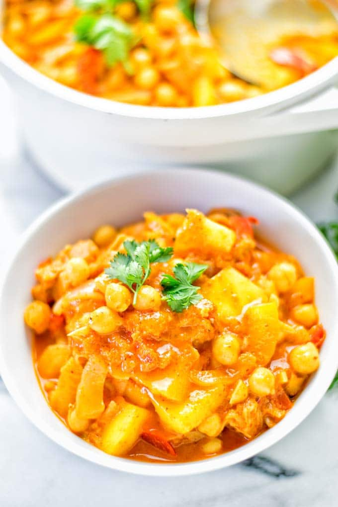 Spicy Mango Jackfruit Curry (one pot, only 15 minutes!)