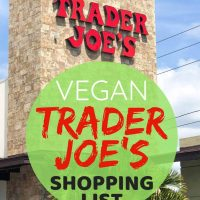 Trader Joe's Vegan Shopping List