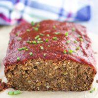Lentil Mushroom Vegan Meatloaf (Gluten-Free)