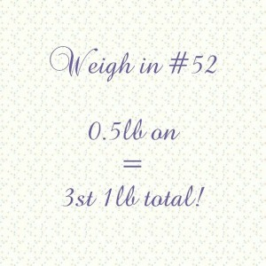 Slimming World weigh in #52