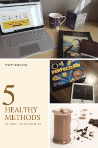 defeat the winter blues, healthy hot chocolate, essential oils for winter, family games, reading