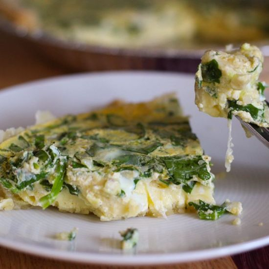 Whole Wheat Quiche Florentine | by Stacey Mattinson, MS, RDN, LD