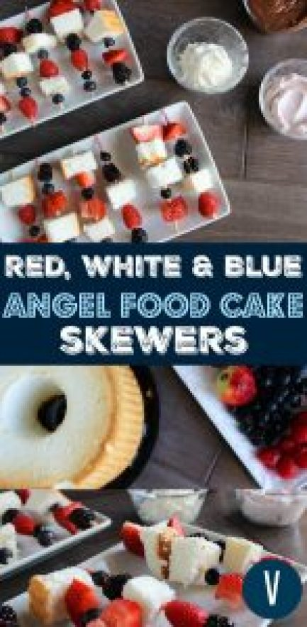 Berry and Angel Food Cake Skewers | by Stacey Mattinson, MS, RDN, LD