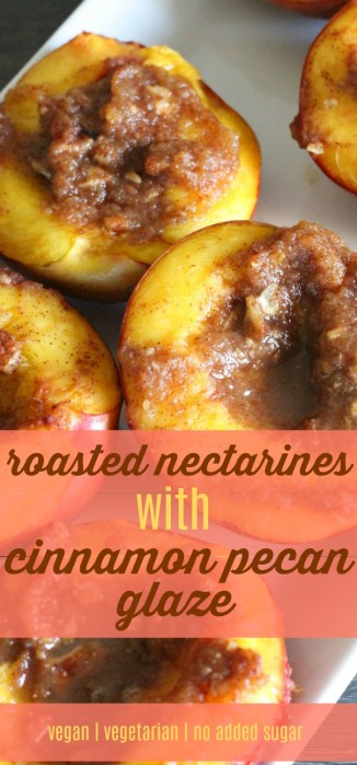 Roasted Nectarines by Stacey Mattinson, MS, RDN, LD