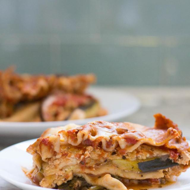 High Protein Vegetarian Crock Pot Lasagna | by Stacey Mattinson, MS, RDN, LD