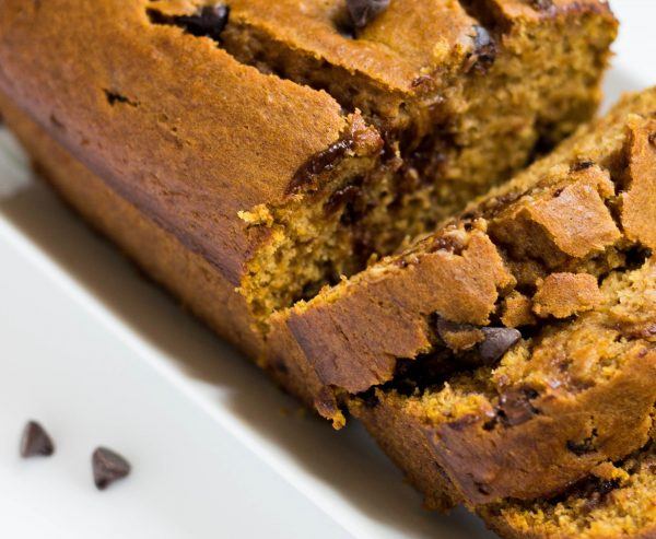 Healthy Pumpkin Chocolate Chip Bread | by Stacey Mattinson, MS, RDN, LD