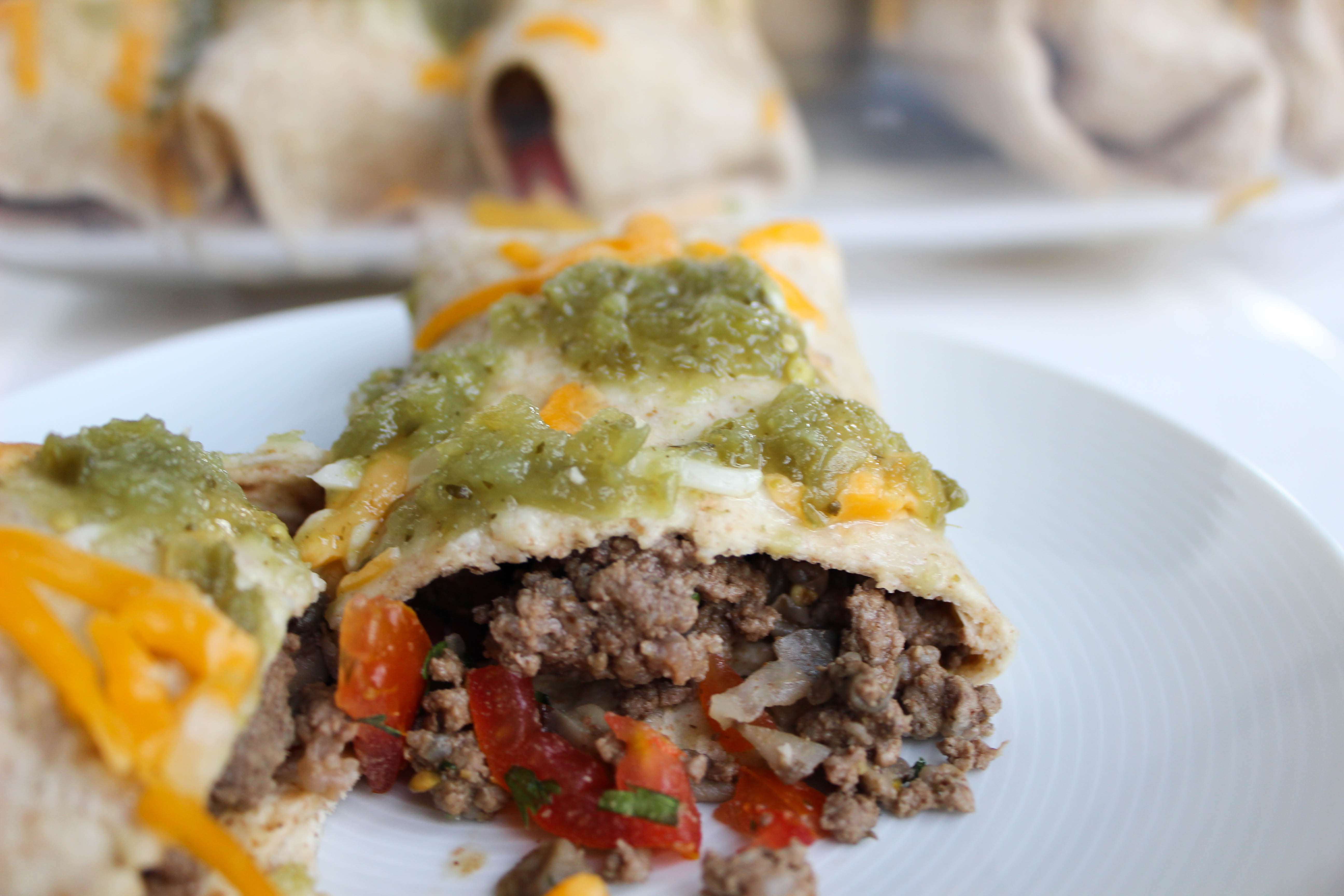 Lean Beef Burritos with Enchilada Sauce | Stacey Mattinson Nutrition