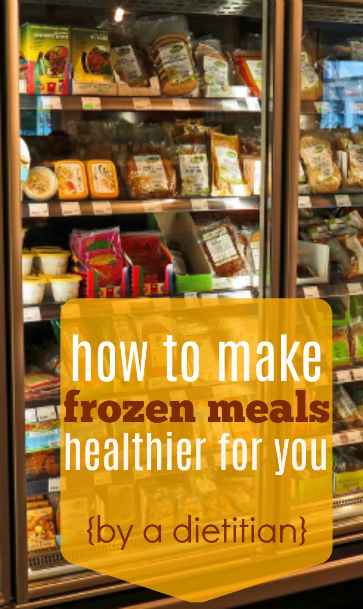 There are easy ways to make frozen meals a healthy choice! | How to Make Frozen Meals Healthy by Stacey Mattinson Nutrition