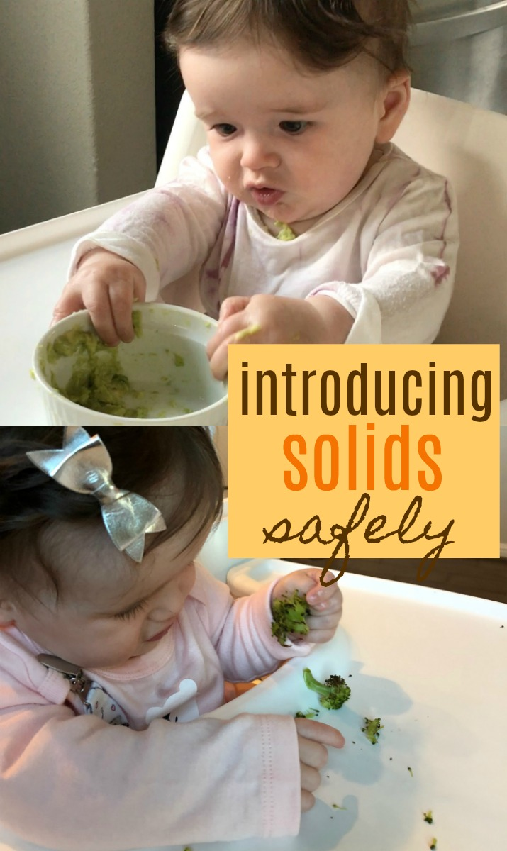Mom life is hard. Aside from the fact that we're completely exhausted, we are tasked with keeping a small human alive. Here is REAL life application of introducing solids safely. | Introduce Solids to Baby by Stacey Mattinson Nutrition