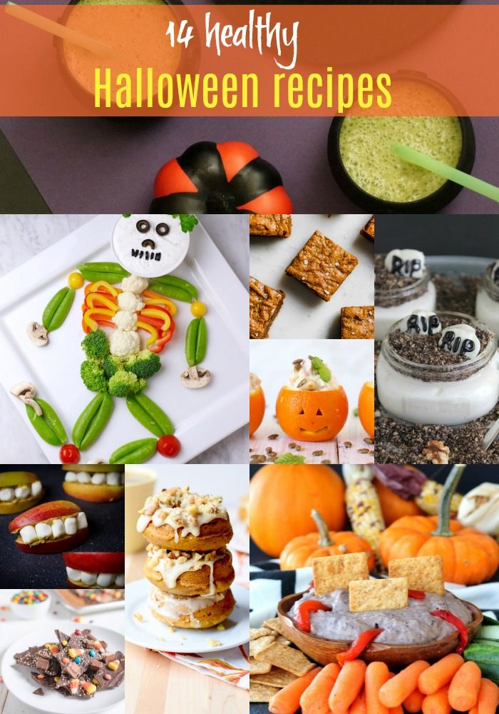 Looking for healthy Halloween recipe inspiration?! Here are 14 healthier Halloween recipes from beverages to sides and snacks or dessert! | Healthy Halloween Recipes by Stacey Mattinson Nutrition