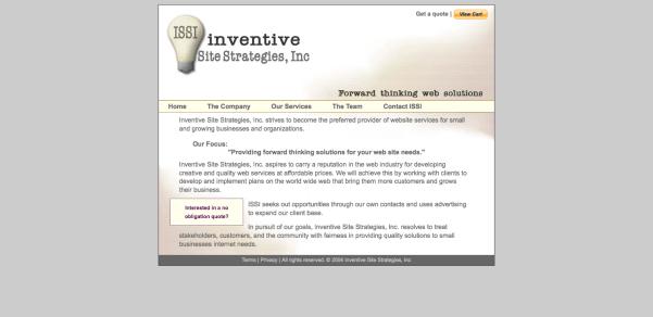 Inventive Site Strategies, Inc Website