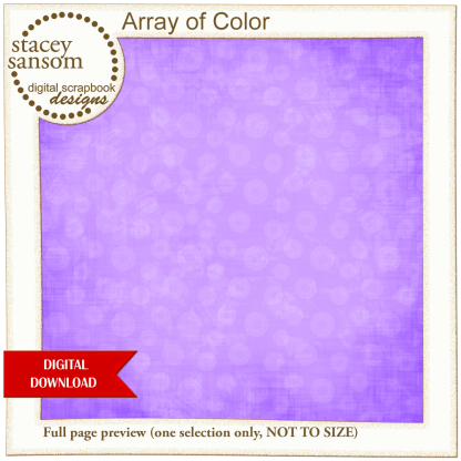Array of Color Bright Purple Paper Pack from Stacey Sansom Designs