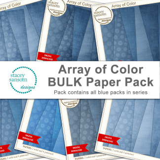 Array of Color BULK Paper Pack - Blue - from Stacey Sansom Designs