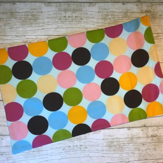Ice Pack Cover - Multi Colored Large Dots - 8x12