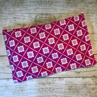 Ice Pack Cover - Magenta Floral Grid - 6x8