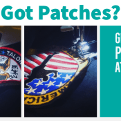 Get those patches sewn on.
