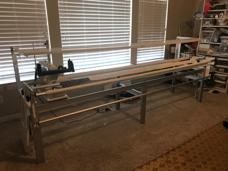 Viking Hursqvarna Mega Quilter on 10' Inspira Short-arm Quilting Frame