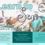 Booking now! Sewing lessons at Stacey Sansom Designs