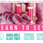 Available Sewing Lessons | Special | Stacey Sansom Designs