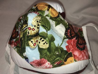 Large Face Mask (Ver 1) - Floral and Butterflies | Stacey Sansom Designs