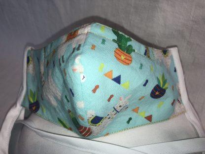 Medium Face Mask (Ver 1) - Llamas   Stacey Sansom Designs