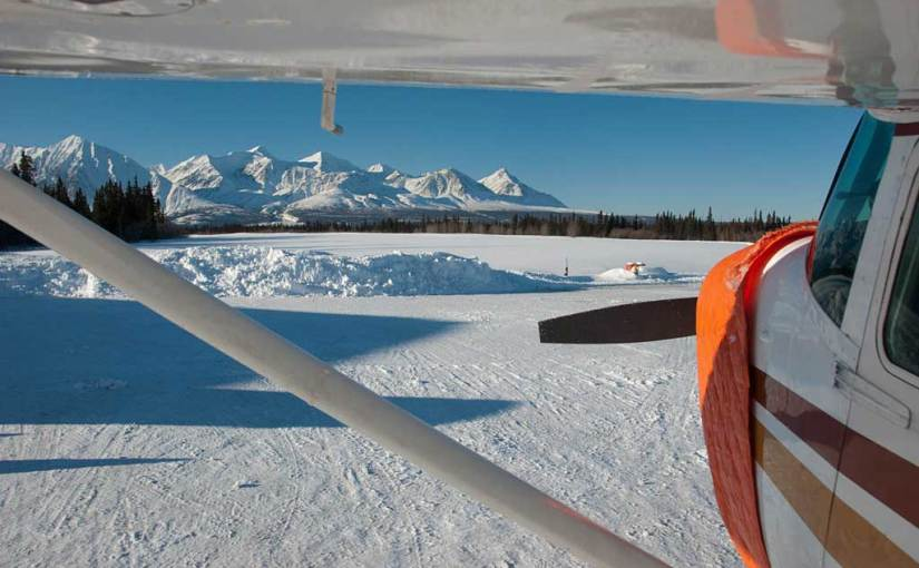 Photo: About to fly over Kluane in the winter