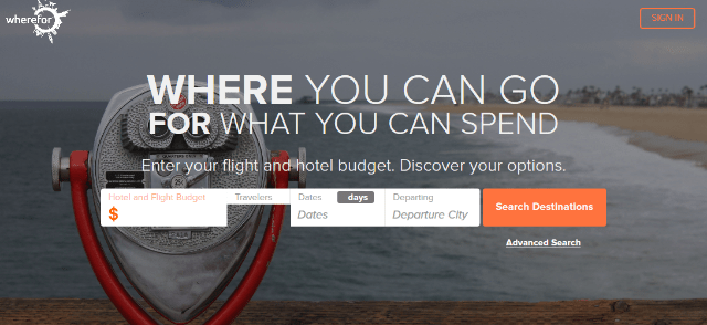 """<a target=""""_blank"""" href=""""https://www.wherefor.com/"""">WhereFor lets you choose a destination based on your budget.</a>"""