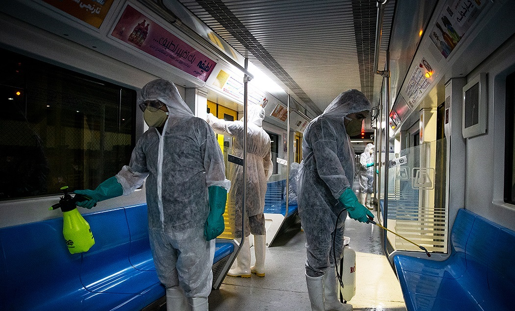 Coronavirus subway cleaning