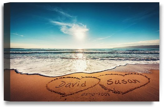 Personalized beach poster