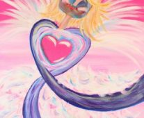 stacie overman breast cancer angel painting