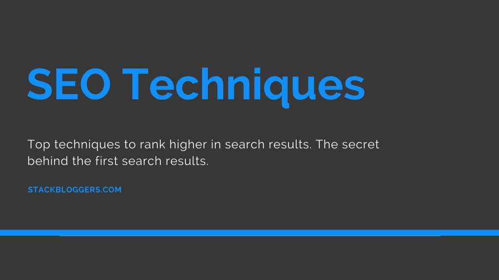 Top 20 SEO Techniques that Works Quickly on 2018