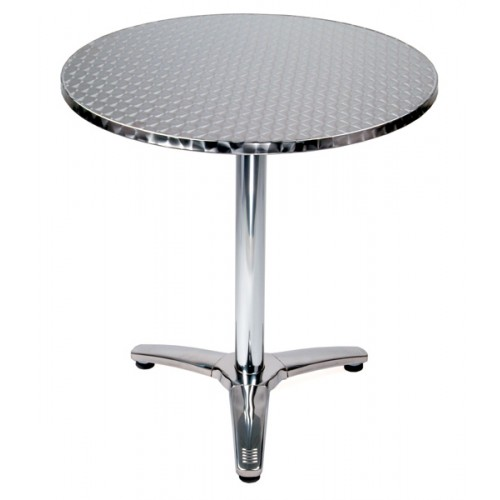 "Round 28"" Top Stainless Steel Table (tri-foot)"