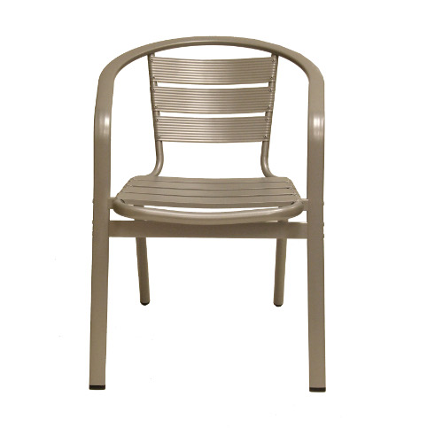 aluminum side chair front