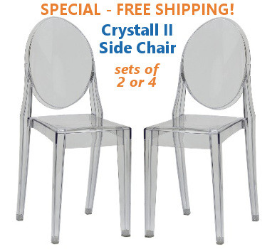 Bon ... Clear Stackable Side Chairs Clear And Black