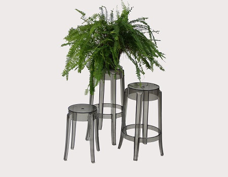 Vesper Chair Used As Plant Stand