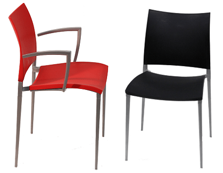 Molded polypropylene chairs