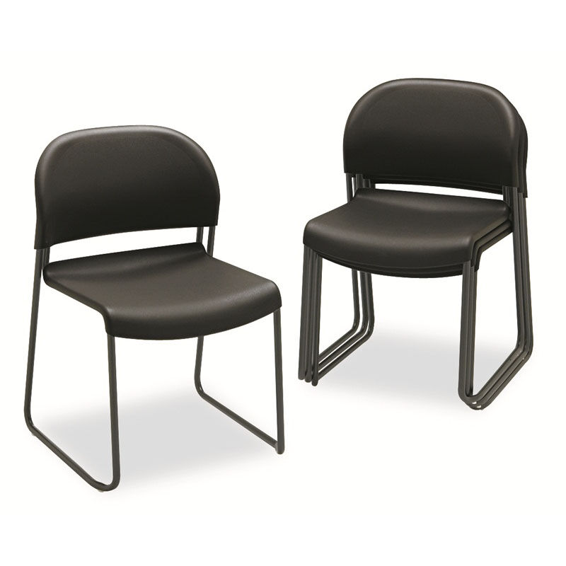 staples stacking chairs comfy rocking chair stack guest black 4 carton hon4031ont