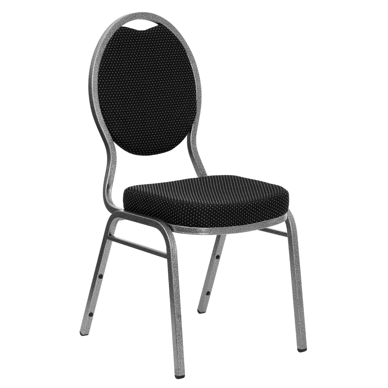 Black Fabric Banquet Chair FDC04SILVERVEINS076GG