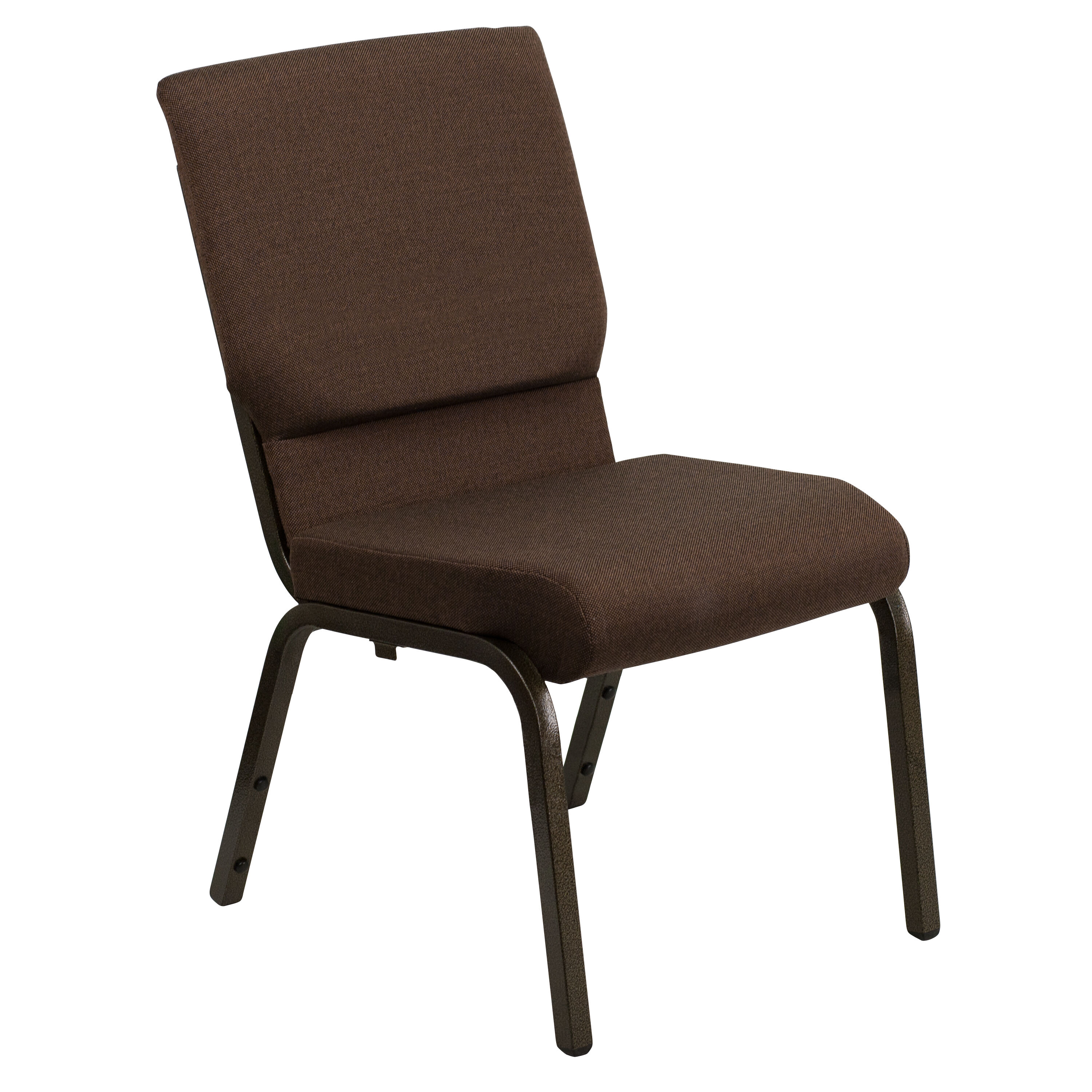stackable church chairs ethan allen chair covers brown fabric xu ch 60096 bn gg