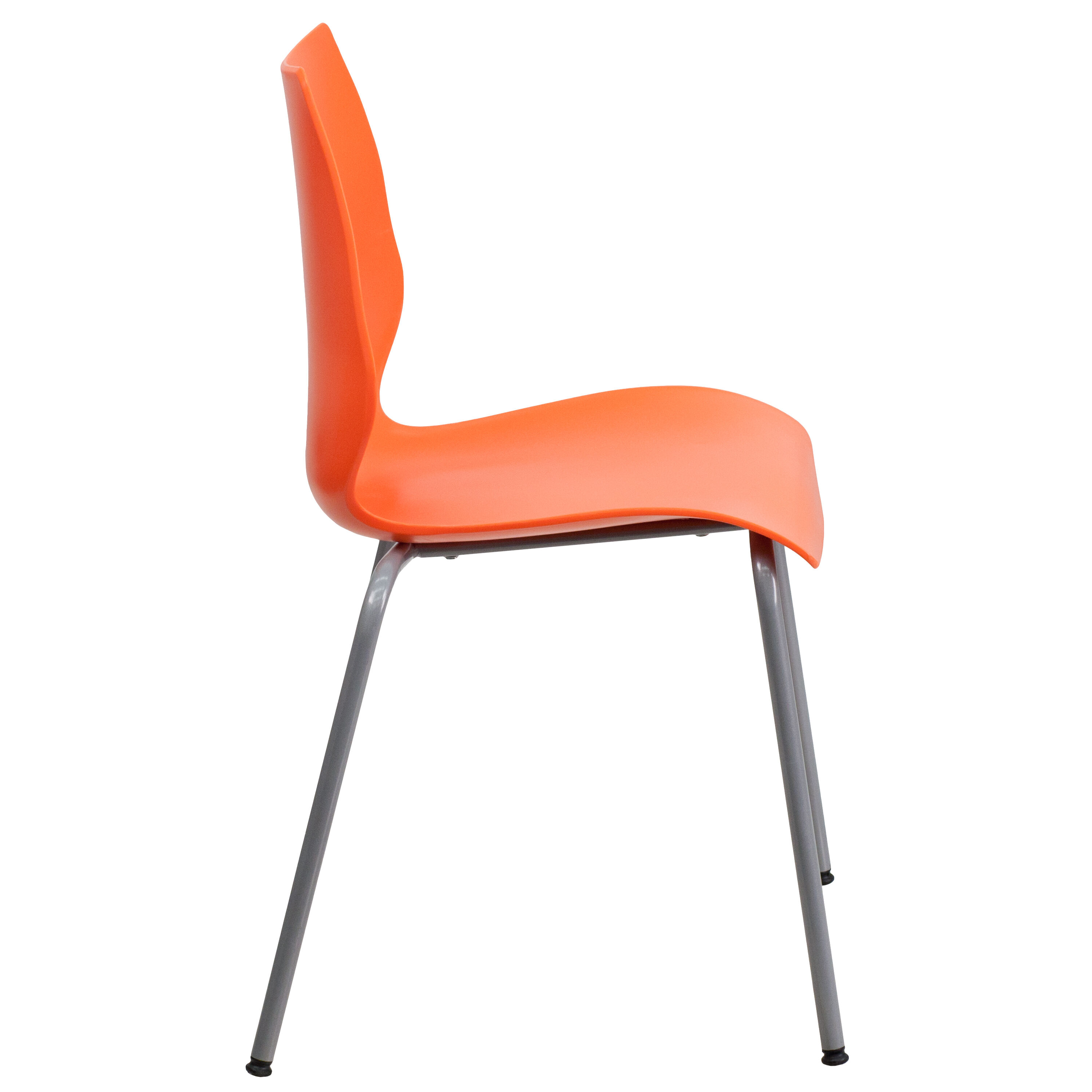 orange stackable chairs bungee chair target review plastic stack rut 288 gg