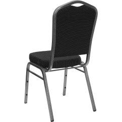 Chairs 4 Less Bright Stars Bouncy Chair Black Fabric Banquet Fd C01 Silvervein S076 Gg